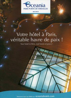 plaquette hotel Océania hotel Paris
