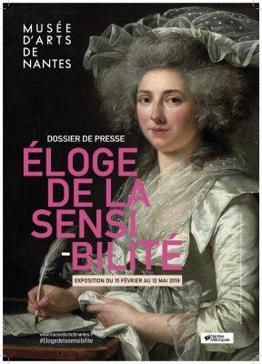Affiche Eloge de la sensibilité, musée d'art de Nantes