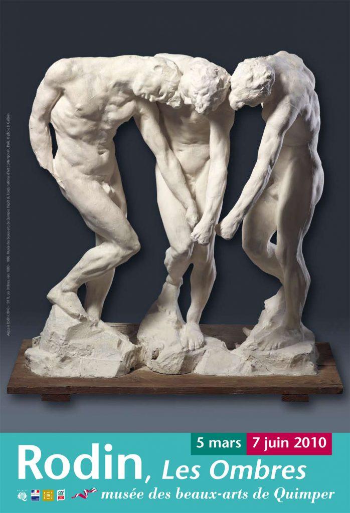 Affiche Rodin, les ombres musée des beaux arts de Quimper