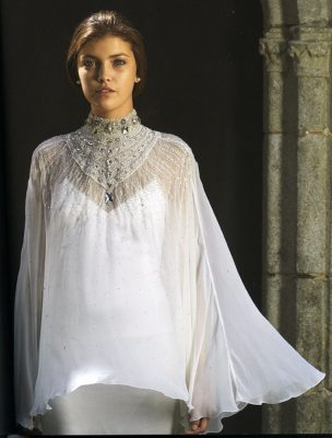 Anaëlle, robe en satin de soie, création Pascal Jaouen, collection Gwenn ha Du