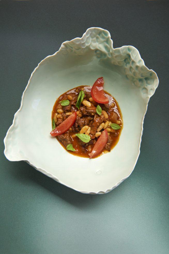Chili con carne aux cocos de Paimpol , Olivier Bellin , céramiste Nathalie Derouet