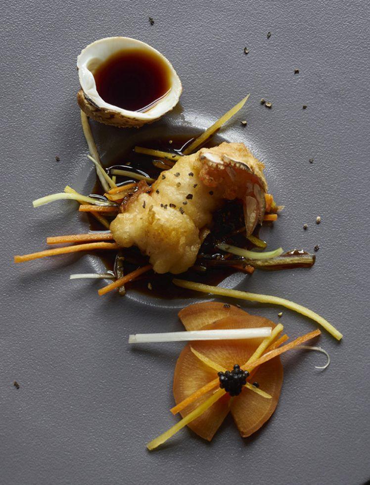 Langoustines en beignets, sauce soja , Henri Pellen