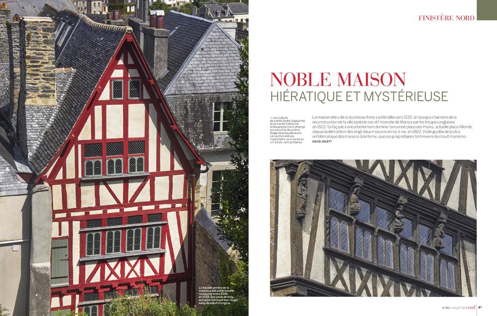 Noble maison de la Duchesse Anne , hiératique et mystérieuse , Finistère , Vmf