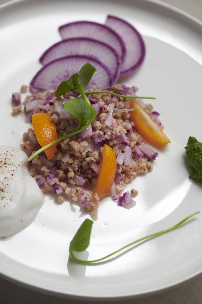 salade de blé noir et radis bleu d automne , recette Xavier Hamon