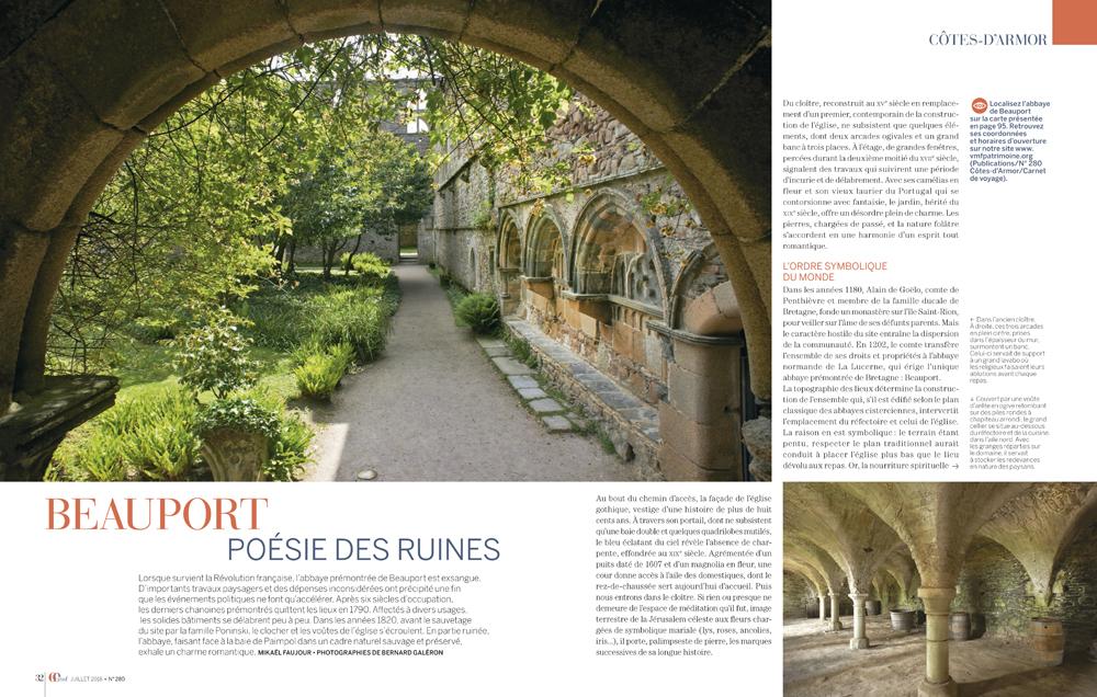 reportage photo , revue VMF , spécial Cote d'Armor , abbaye