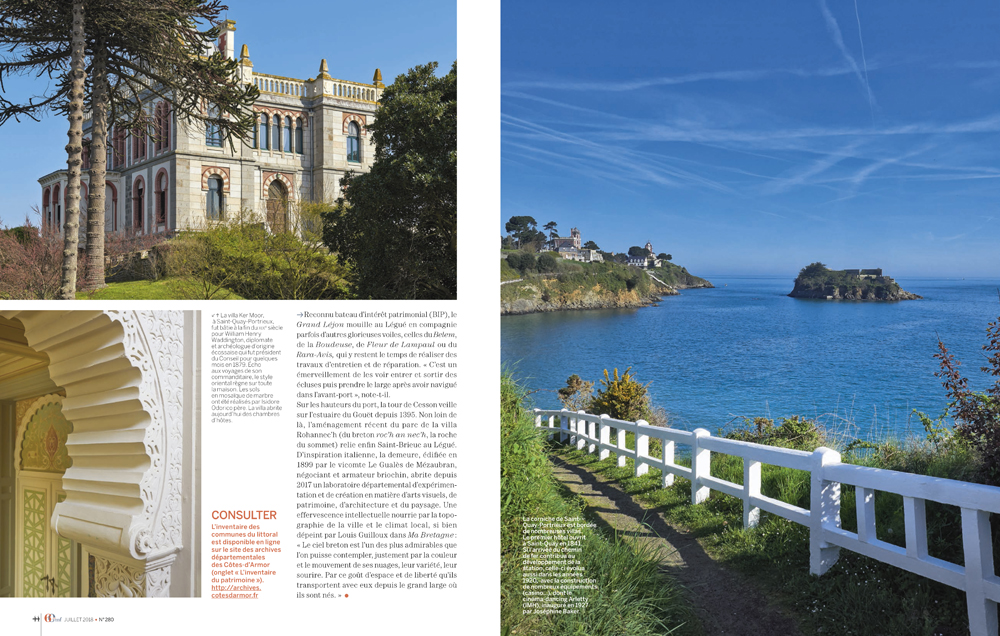 reportage photo , revue VMF , spécial Cote d'Armor architecture balnéaire