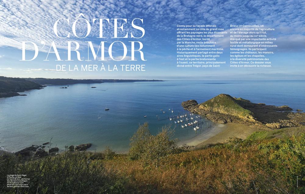 reportage photo , revue VMF , spécial Cote d'Armor , falaises de Plouha
