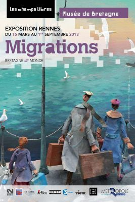 affiche Migrations , musée de Bretagne , Rennes