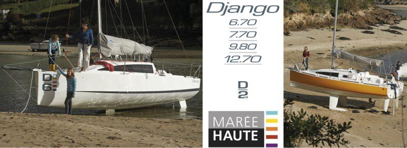 plaquette Marée Haute , chantier naval , Django , voilier