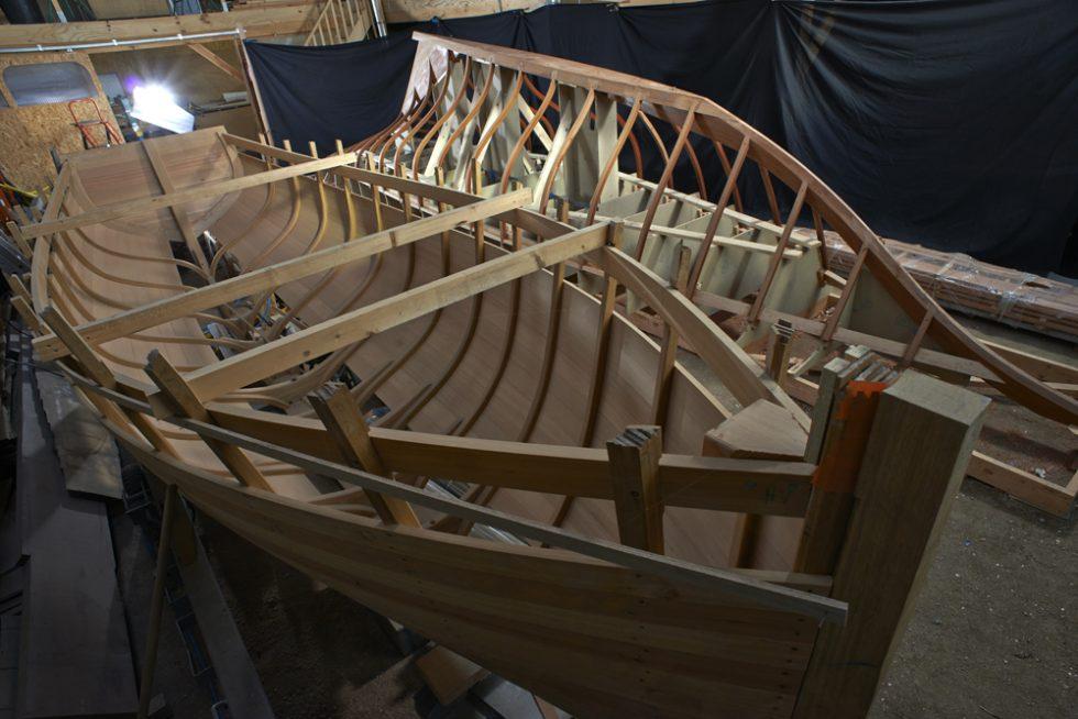 reportage photo sur Gwell du chantier naval Hubert Stagnol