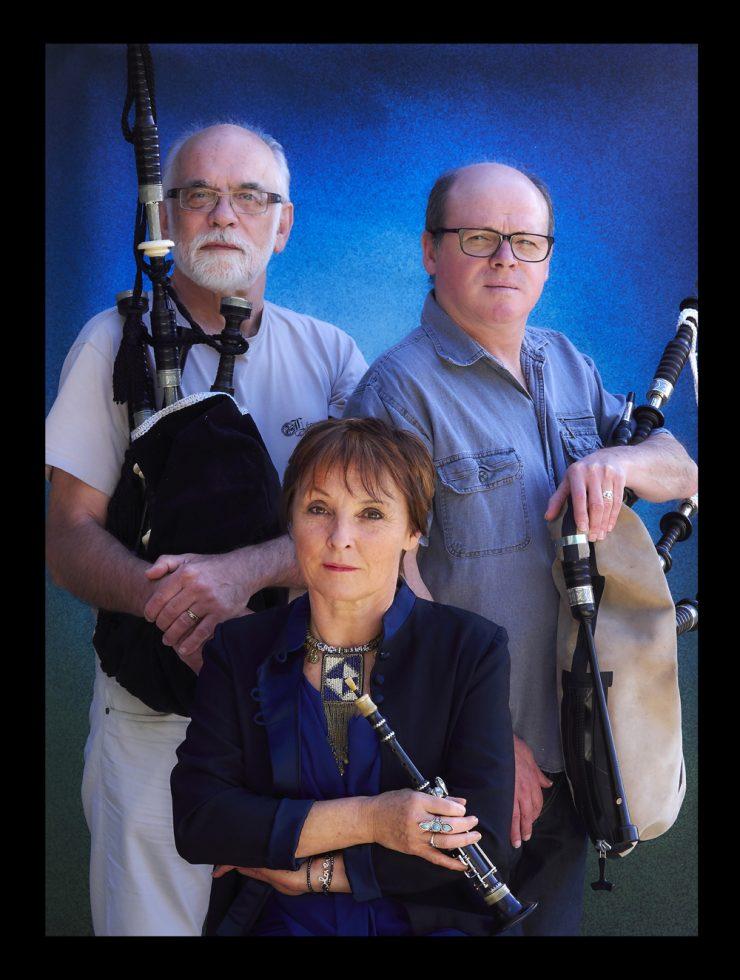 Hervé , Gilles , Françoise , sonneurs de bagad