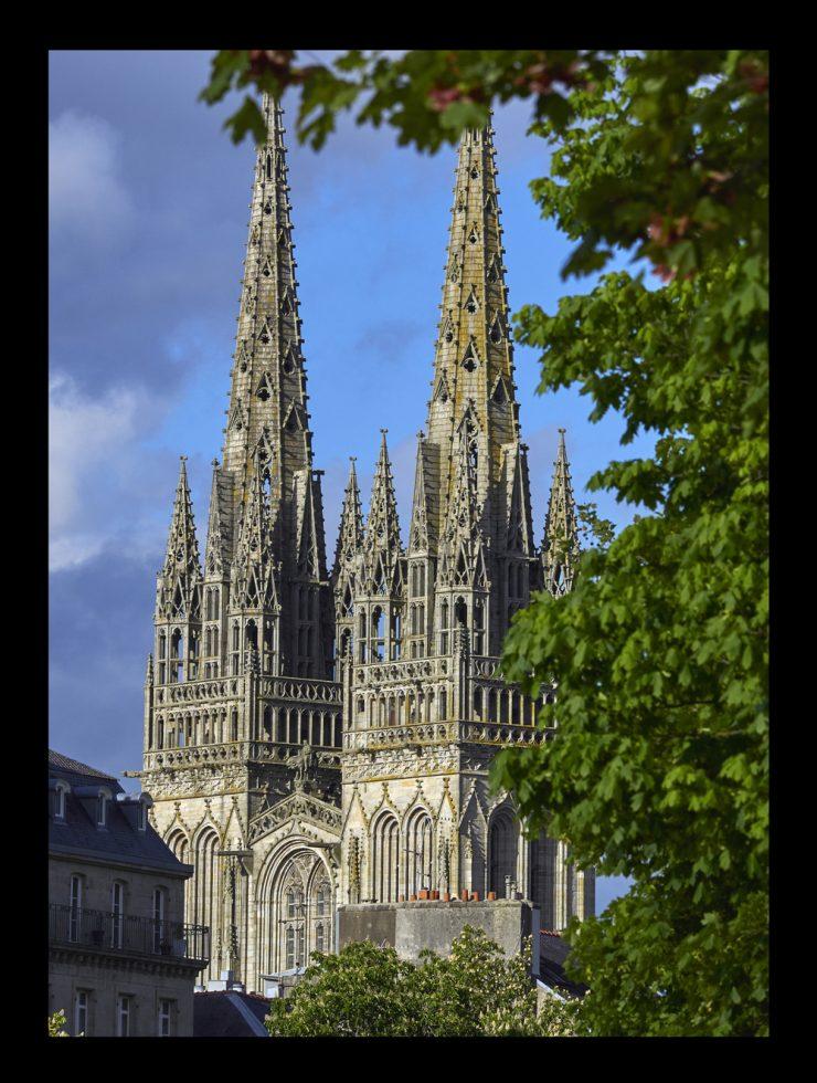 fleches de la cathédrale de Quimper