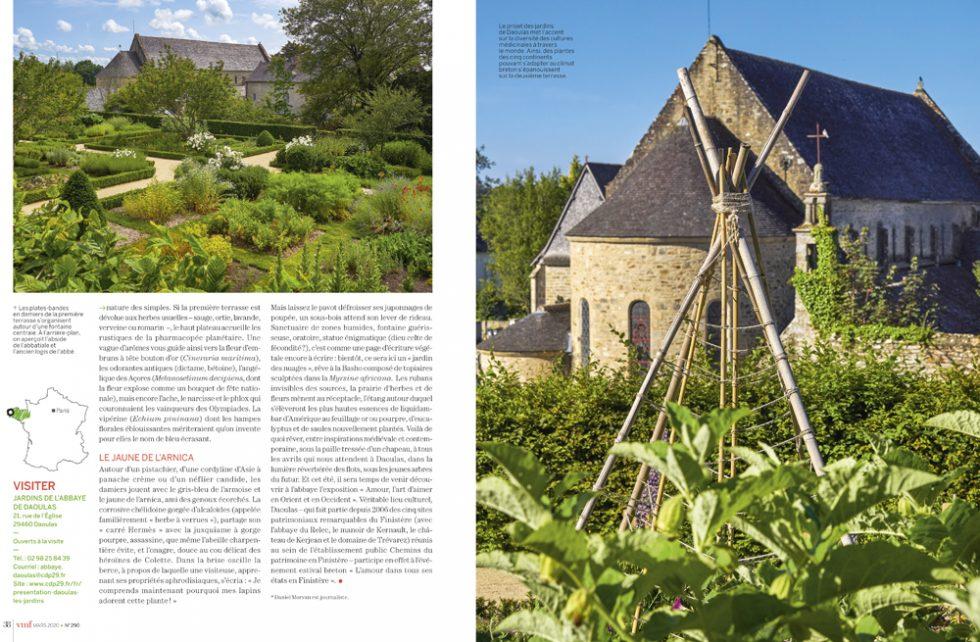Jardin médicinal de l abbaye de Daoulas Finistère