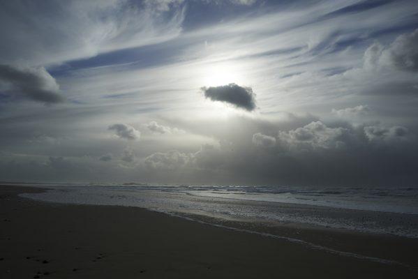 baie d Audierne en hiver , Finistère , Bretagne