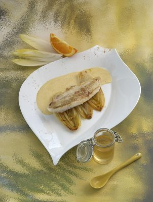 Filet de Cardine aux endives confites Patrice Caillault