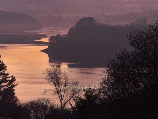 L Aulne en hiver à Rosnoen , Finistère , Bretagne