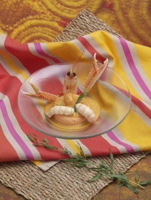 savarin de merlan aux langoustines. Patrice Caillault