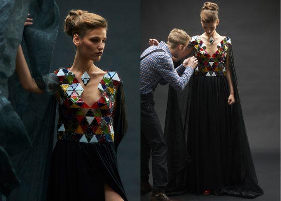 Sird Jos, styliste, robe en verre, Nolwen Le Lay, Quimper