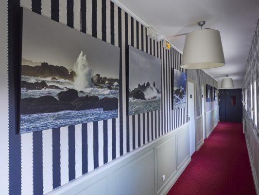 Décoration de l hotel La Résidens des Artistes à Roscoff