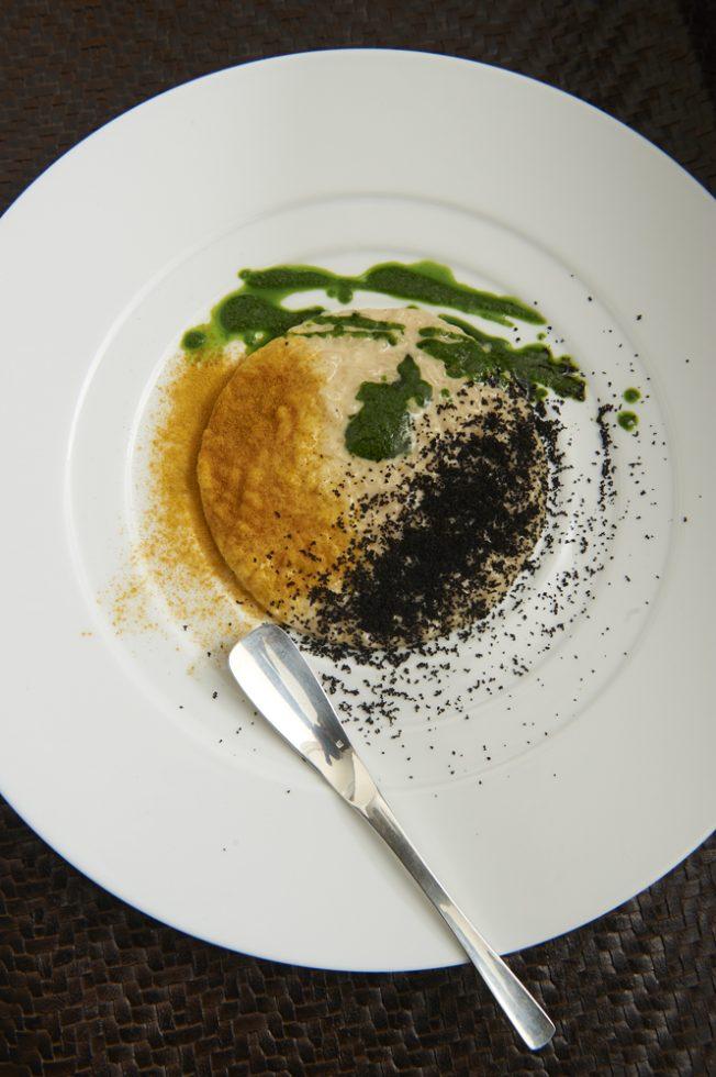 Risotto aux 3 saveurs,basilic,curcuma et olives , Olivier Bellin
