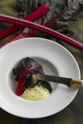 vapeur en aumonière de blettes foie gras , Guy Guilloux