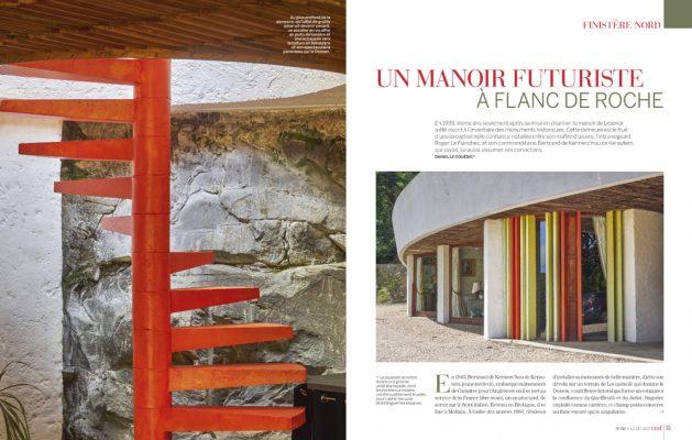 Un manoir futuriste à flanc de roche , Finistère , Vmf